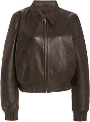 NILI LOTAN Julien Leather Bomber Jacket