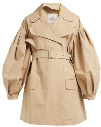 Simone Rocha 4 Moncler Belted Cotton-twill Trench Coat - Womens - Beige