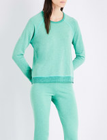 Sundry Contrast-trims stretch sweatshirt