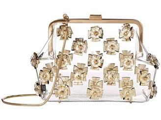 Zac Posen Floral Love Frame Clutch - Metallic Glass (Gold) Handbags