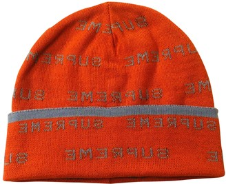Supreme Orange Polyester Hats