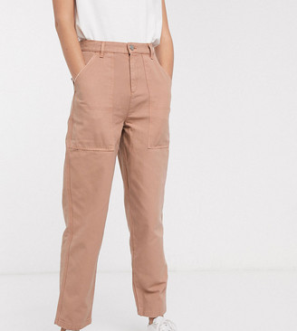 Asos Tall ASOS DESIGN Tall carpenter jeans in washed brick