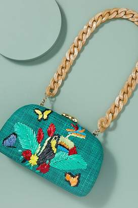 Mia Toucan-Embroidered Clutch