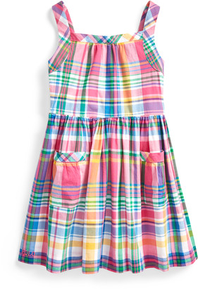 Ralph Lauren Madras Fit-and-Flare Dress