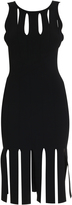 Cushnie et Ochs Fringed Knit Dress