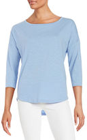 Lord & Taylor Boatneck Cotton Tee