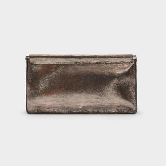 Jerome Dreyfuss Clic Clac Xl Clutch In Silver Goat Leather
