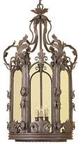 Febe 3 - Light Lantern Drum Chandelier with Wrought Iron Accents Astoria Grand