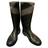 Burberry Grey Rubber Boots