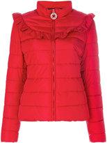 Love Moschino frilled padded jacket - women - Polyamide/Polyester - 38