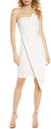 Lulus Queen of the City Strapless Cocktail Dress