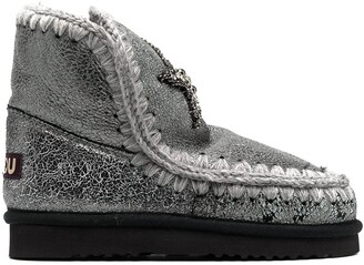 Mou Eskimo star patch snow boots