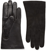 Dents - Warwick Cashmere-lined Suede And Leather Gloves