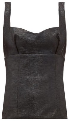 Emilia Wickstead Madeline Sweetheart-neck Lame Top - Black