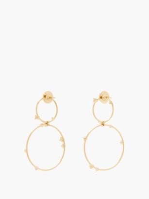 Fernando Jorge Circus Diamond & 18kt Gold Hoop Earrings - Gold