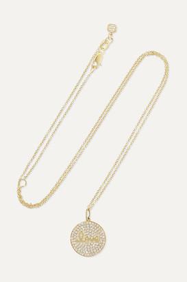 Sydney Evan Love 14-karat Gold Diamond Necklace