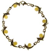 """Cozmos Bracelets 8"""" inch/20cm BALTIC AMBER AND STERLING SILVER 925 LADIES' DESIGNER BUTTERSCOTCH DOLPHIN BRACELET JEWELLERY JEWELRY"""