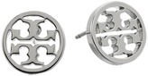 Tory Burch Logo Circle-Stud Earrings