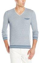 HUGO BOSS BOSS Orange Men's Light Merino Blend V Neck Pullover Sweater