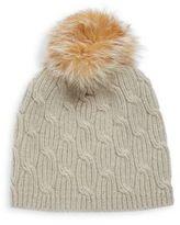 Portolano Knit Cashmere & Fox Fur Beanie