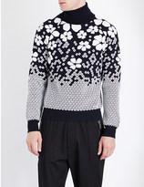 DSQUARED2 Turtleneck floral-intarsia knitted jumper