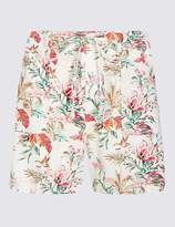 Marks and Spencer Linen Rich Floral Print Casual Shorts