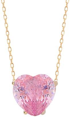 GABIRIELLE JEWELRY Love & Protection 14K Gold Vermeil & Crystal Pendant Necklace