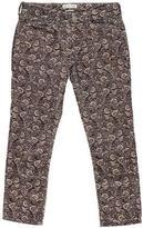 Etoile Isabel Marant Printed Corduroy Cropped Pants