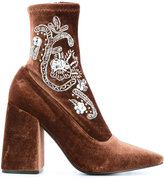 Senso Ziko I boots - women - Velvet/Synthetic Resin/Kid Leather - 35