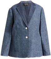 Lafayette 148 New York Lafayette 148 New York, Plus Size Vangie Single-Breasted Denim Blazer