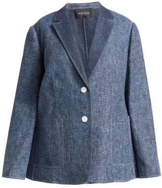 Lafayette 148 New York, Plus Size Vangie Single-Breasted Denim Blazer