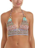 Trina Turk Macrame Mix Crop Triangle Bikini Top