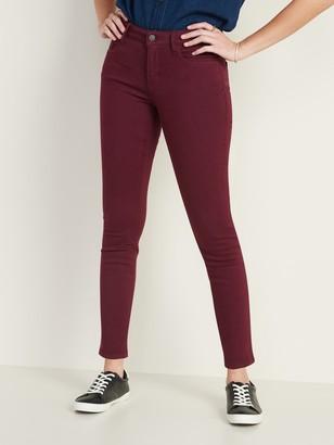 Old Navy Mid-Rise Built-In Warm Pop-Color Super Skinny Rockstar Jeans for Women