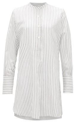 Nili Lotan Loria Striped Cotton-blend Tunic Top - Womens - White Black