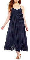 Free People Embroidered Elaine Slip Maxi Dress