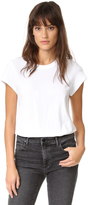 Alexander Wang Cap Sleeve Fitted Tee Bodysuit