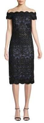 Tadashi Shoji Sequin-Embellished Sheath Dress