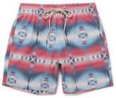 Faherty Beacon Mid-length Printed Swim Shorts - Multi
