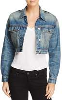 Iro . Jeans IRO.JEANS Kiss Cutout Cropped Denim Jacket