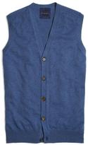 Brooks Brothers Blue Cashmere Button-Front Vest
