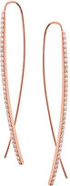 Lana Reckless Narrow Upside Down Hoop Earrings in Rose Gold