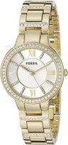 Fossil Women's ES3283 Virginia -Tone Stainless Steel Watch with Link Bracelet