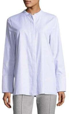 Escada Sport Long-Sleeve Striped Poplin Shirt