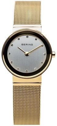 Bering Women's Goldtone Stainless Mesh BraceletWatch