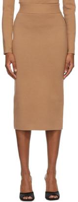 Victor Glemaud Tan and Black Colorblock Skirt