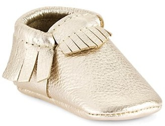 Freshly Picked Baby Girl's Platinum Mini Sole Classic Moccasins