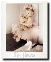 Ballerina Girl Pink Tutu Ballet Kids Room Wall Decor Art Print Poster (16x20)