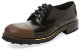 Prada Leather Cap-Toe Derby Shoe