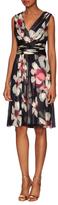 Carolina Herrera Silk Printed Gathered Knee Length Dress