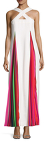 Mary Katrantzou Amsonia Pleated Printed Halter Gown